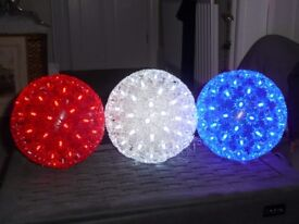 3 NEW HANGING INDOOR 100 LED BALL LIGHTS