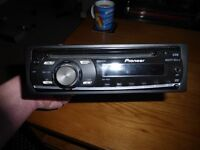 pioneer deh1000e car cd player radio with aux plug hole