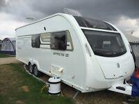 Twin axel 6 berth double fixed bed Sprite Swift Quattro FB 2014