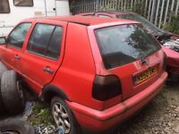 Volkswagen Golf 1996 year 1.9 diesel spare parts available