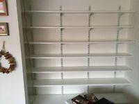 Twin slot B&Q shelves.