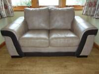 2 seater leather sofa VGC