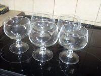 Set of five sundae dishes