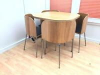 Ikea Fusion dining table and 4 chairs compact stylish