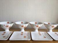 New fine china dessert set