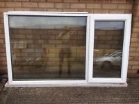 UPVC White Window - complete with window and glass
