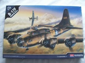New Old Stock, Complete Boxed, Academy B-17F Memphis Belle. 1/72 Scale Kit to Assemble