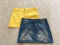 X2 Jack Wills Denim Skirts Size 12 NEVER WORN
