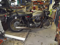 Classic motorcycle for complete restoration