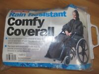 Coverall for Wheelchair user with Hood and Arms.