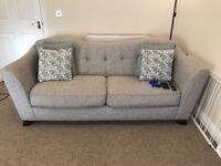 Sofology Bartelli 3 seater sofa in pebble pastel mix. 1 year old, RRP £779 looking for £400 ono