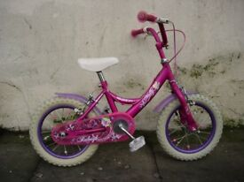 Kids Bike by Raleigh, Pink , 14 inch Wheels are Great for Kids 4 Years, JUST SERVICED/ CHEAP PRICE!