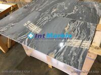 Bardiglio Nuvolato Polished Italian Marble Tiles Floor / Wall Marble Tile, 305x610x10mm