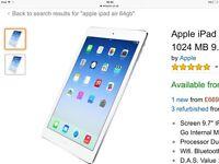 Apple I pad air 64gb all boxed bargain £265 Ono
