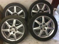 HONDA 4 tires Tyres & alloys 225/45/17