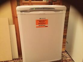Hotpoint under counter freezer and Zanussi integrated fridge freezer, both one year old. £100/£150