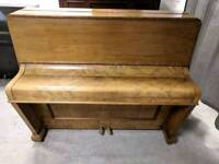Beautiful Oak 'Reinhard' Upright Console Piano - CAN DELIVER