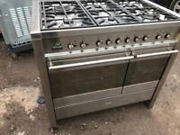 Smeg stainless steel range cooker