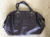 Purple hold-all bag