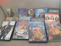 13 children's DVDs .