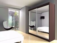 **CLEARANCE SALE** Luxury Full Mirrored Sliding Door Wardrobe - FASTEST DELIVERY!