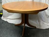 Nathan Teak Extending Table and Six Chairs