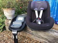 MaxiCosi pearl family fix ISO fix base & car seat
