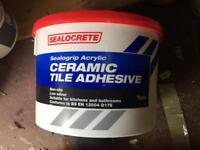 Brand new Sealocrete 10ltr Ceramic tile adhesive £10 ono MUST GO!