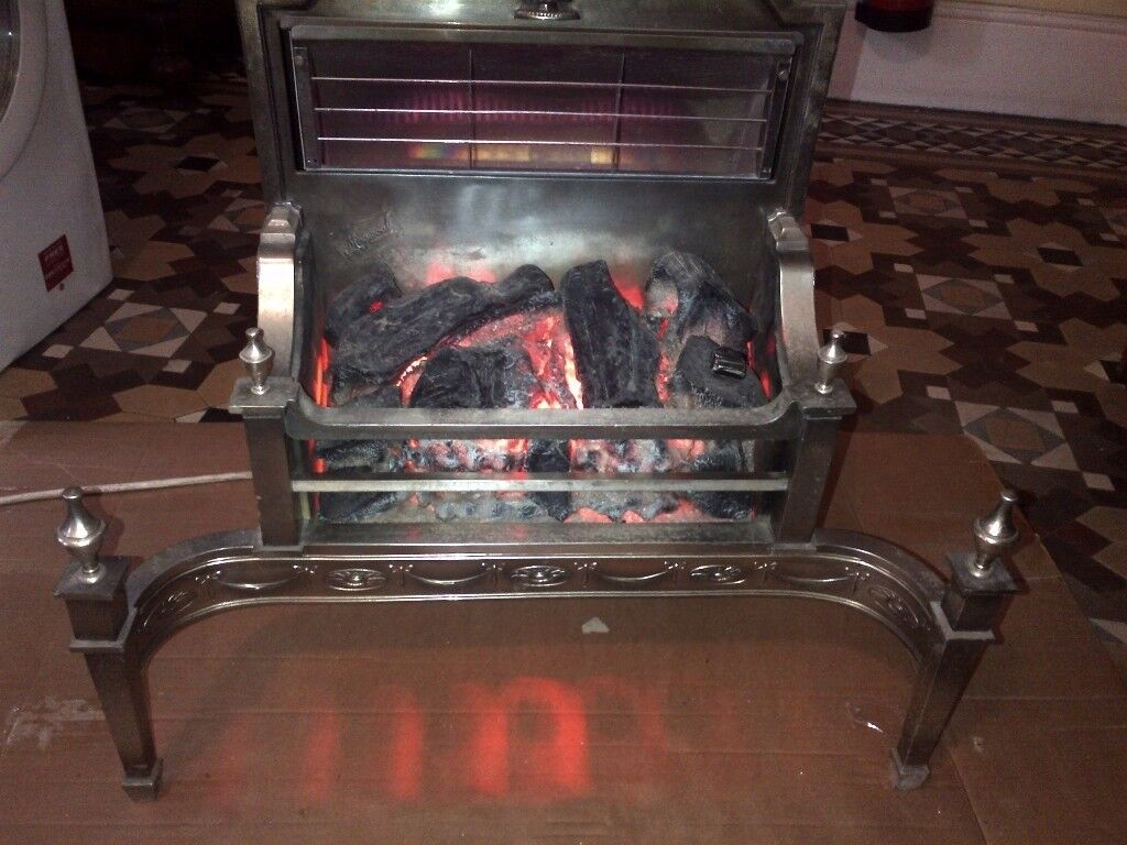 powerful 3kW adjustable output vintage electric fire can deliver real fire effect