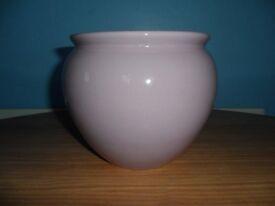 Lilac plant pot