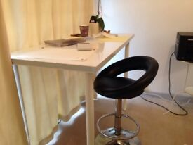 High desk and stool + other home furniture for a bargain.