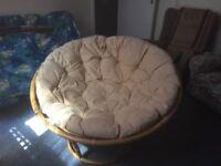 Wicker bowl chair