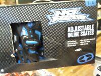 NO FEAR ADJUSTABLE INLINE SKATES, BOXED