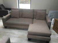 Dwell Ankara sofas x 2 in Oatmeal colour EXCELLENT CONDITION