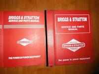 Factory Briggs and Stratton Master Service and Parts Manuals