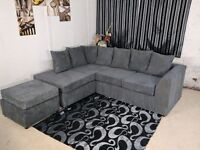 "BRAND NEW STYLISH DYLAN CORNER UNIT IN JUMBO CORD FABRIC WITH ""FAST DELIVERY"