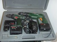 SET PSB 12V SP2 CORDLESS DRILL & PSR 120 BATTERY POWERED SCREW DRIVER WITH MANUALS