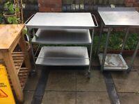 Free standing stain steel worktop/unit