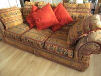 Beautiful Second Hand Sofa with Unique Upholstery £75 ono
