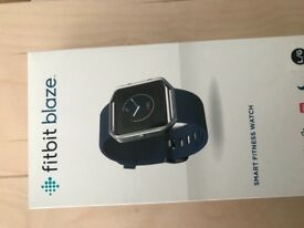 Fitbit Blaze watch size large, blue