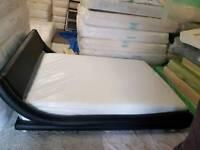 DOUBLE BED ITALIAN WHIT TEMPUR