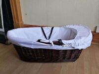 Brand new wicker moses basket