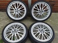 "OZ BOTTICELLI 20"" SPLIT RIM ALLOYS. 5X114.3PCD ASTON MARTIN VW MERCEDES VAUXHALL"