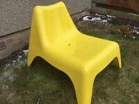 Ikea ps Vigo outdoor chair in yellow