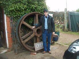 farming buygones, granite, galvanised, wrought iron, barn find machinery etc