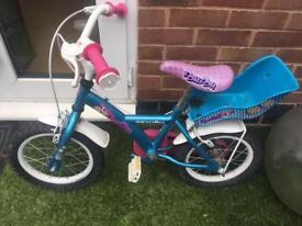 Girls 12 inch bike with stabilisers