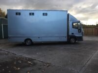 Ford Iveco 7.5 tonne 4 horse horse box in really good condition.