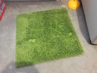Small green square rug Ikea