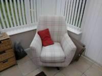 Swivel armchairs (pair of)