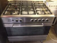 Silver Range Gas cooker 90cm Cheap free delivery